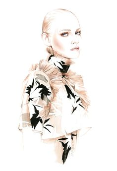 Fashion illustration for No. 21 F/W 2015 // Antonio Soares