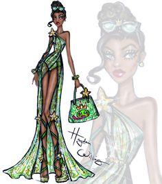 Hayden Williams Fashion Illustrations   Disney Divas 'Beach Beauties' by Hayden Williams:...