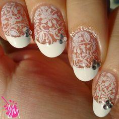 Manis & Makeovers: BP-02 stamping & bridal mani! http://manisandmakeovers.blogspot.com/2015/01/bp-02-stamping-bridal-mani.html