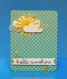 Hello Sunshine by Lynnette - the Lawn Fawn blog