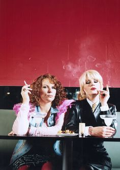 Jennifer Saunders as Eddy, with Joanna Lumley as Patsy, Absolutely Fabulous