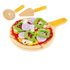 Kinderküchen Zubehör | Pizza Set, aus Holz und Stoff, 31 Teile, von Hape