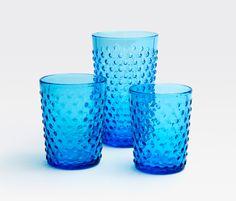 Sofia Glassware - True Blue #bluepheasant