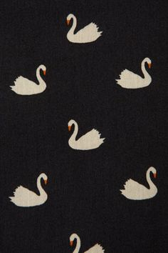 swan print is my love Art And Illustration, Pattern Illustration, Illustrations, Motifs Textiles, Textile Patterns, Textile Design, Pretty Patterns, Beautiful Patterns, Pattern Art