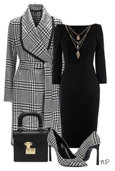 Houndstooth by nuria-pellisa-salvado on Polyvore featuring moda, ESCADA, Lanvin, Banana Republic, outfit, polyvorecommunity, polyvoreeditorial, styleguide and houndtooth