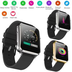 54.06$  Watch here - http://ali84a.shopchina.info/go.php?t=32802033573 - GZDL Smart Watch Bluetooth Support Sim TF Card Health Monitor Sleep Fitness Tracker Reminder Smartwatch For IOS Android WT8103  #shopstyle