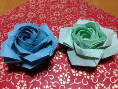 二重螺旋の折り紙のバラ 06 Double helix origami rose 06