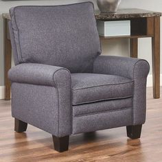 Alcott Hill Bulwell Manual Recliner Upholstery: Gray