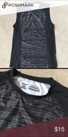 Black and gray sleeveless Reebok tank Poly spandex blend. SD Reebok Shirts Tank Tops