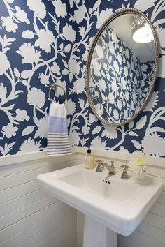 Blue and white wallpaper. Blue and white wallpaper is Thibaut Cabrera Navy T35141 #blueandwhitewallpaper #ThibautCabreraNavyT35141 #ThibautWallpaper #CabreraNavy #wallpaper Revision LLC