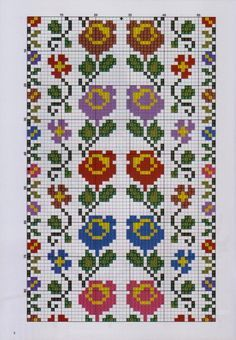 7 and 11 wide Cross Stitch Bookmarks, Cross Stitch Bird, Cross Stitch Borders, Cross Stitch Flowers, Cross Stitch Designs, Cross Stitching, Cross Stitch Embroidery, Hand Embroidery, Cross Stitch Patterns