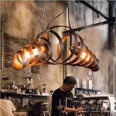 Industrial Barrel Pendant Light