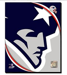 New england patriots sign made from reclaimed lumber hand painted new england patriots team logo canvas framed over with 2 inches stretcher bars ready to voltagebd Gallery