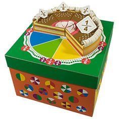 分数ケーキ - おもちゃ - ペーパークラフトキヤノン クリエイティブパーク Fraction Cake