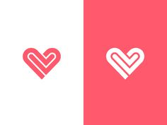 Heart / V by Kakha Kakhadzen #Design Popular #Dribbble #shots