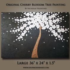 SALE 10 OFF  Original Abstract Cherry Blossom by ShopModernArt, $169.99