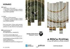 """Folleto exposicion a pesca fluvial  Folleto en galego da exposición temporal: """"A pesca fluvial a través da colección do Museo Etnolóxico"""" que se inaugurou o 10 de xuño de 2016"""