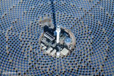"""Giant Solar Battery Made Of Salt - Crescent Dunes, the new 110 megawatt solar power and energy storage facility near Tonopah, Nevada, is billed as the """"most advanced solar plant in the world"""" using integrated thermal energy storage in the form of molten salt which enables the plant to keep churning out electricity long after dark."""