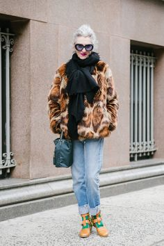 Street style at the Manhattan Vintage Show.