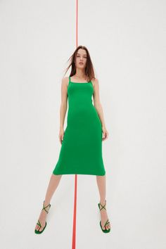 Fitted Midi Dress, Zara United States, Mi Long, Zara Dresses, Cold Shoulder Dress, Clothes, United Kingdom, Color, Suspenders