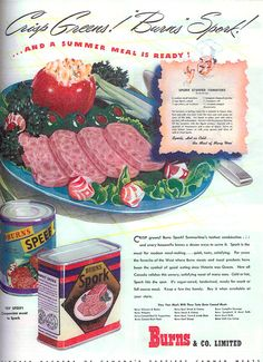 Spam beat Spork in the spiced meat department: The 8 Absolute Most Disgusting Old Food Recipe Ads