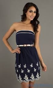 Short Casual Strapless Dress  Just My Style  Pinterest  Shops ...