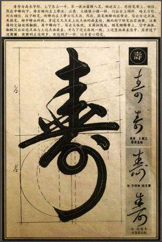 文字移植 - 行草書法解析 moji. Japanese calligraphy cursive.