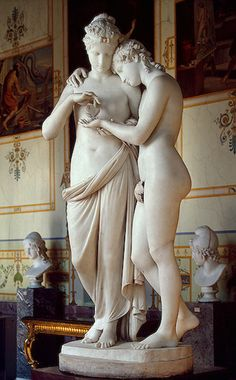 Wow, Cupid and Psyche    Canova, Antonio  Italy. 1808  Marble. 150 cm  Source of Entry:   Collection of Empress Josephine, Malmaison. 1815