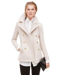 J.Crew Majesty peacoat in dark bone.
