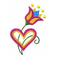Free Flower Machine Embroidery Design
