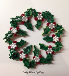 Quilled Wreath Carly Allison Quilling