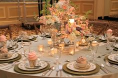 """A beautiful #tablescape from our last Nashville PWG bridal show! Don't miss the next one on January 12th 2014. Use the promo code """"PIN"""" for $2 off your ticket."""