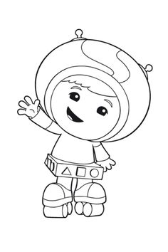 coloring page Team Umizoomi - Geo rollerskates