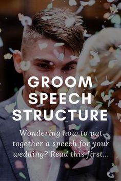 groom speech structure