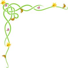 Yellow Floral Border   Yellow Orchid Flower Border Clip Art, Free ...