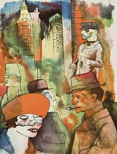 George Grosz – Crepuscle, 1922