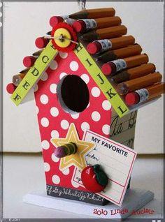 Cute idea kids can make for teacher gifts!
