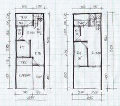gambar denah rumah lebar 4 meter 1