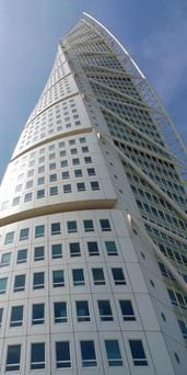 The 54-storey Turning Torso tower, Malmo Sweden