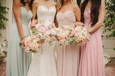 Pretty Pastel Tones Bridesmaid Dresses for Spring/Summer Wedding 2014