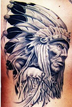 Grey Ink Indian Chief Tattoo Design By Todd Wilson Indian Chief Tattoo, Indian Headdress Tattoo, Native Indian Tattoos, Indian Feather Tattoos, Native American Tattoos, Tribal Tattoos, Native American Artwork, American Indian Art, Body Art Tattoos