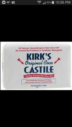 If you have hard water or you're camping and there's hard water..you'll love this soap. Kroger carries it.