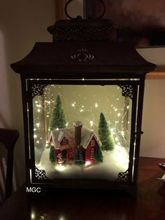 Cheap and Easy Dollar Store Christmas Decorating Ideas – Winter Scene Lantern : Create some awesome Christmas decorations for your home this festive season with a winter scene in a jar or lantern. You can buy all the supplies you need at your local dollar Lantern Christmas Decor, Christmas Centerpieces, Rustic Christmas, Xmas Decorations, Simple Christmas, Vintage Christmas, Christmas Holidays, Christmas Ornaments, Cheap Christmas