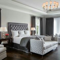 Transitional Bedroom Ideas - We have actually included so many bedroom layouts already and for certain, you still such as to see more because we never ever obtain enough of bedroom interior decoration ideas that . Transitional Home Decor, Transitional Living Rooms, Transitional Style, Transitional Lighting, Transitional Kitchen, Gray Bedroom, Home Decor Bedroom, Bedroom Ideas, Bedroom Designs