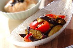 ナスとトマトのゴマ酢和えのレシピ・作り方 - 簡単プロの料理レシピ | E・レシピ