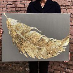 Bild Gold, Feuille D'or, Gold Leaf Art, Turkish Art, Feather Art, Contemporary Wall Art, Hand Art, Wall Art Pictures, Resin Art
