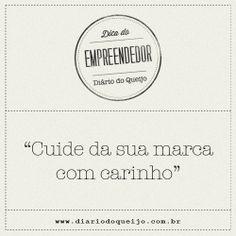 Dica do Empreendedor: Como cuidar bem do visual da sua marca.  Confira o novo post no Diário do Queijo: http://www.diariodoqueijo.com.br/