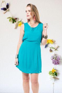 Vestido Abertura Costas Viscose Básica R$ 139,90 - Terra da Garoa Verão 16 - Moda Sustentável feita com amor