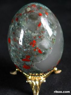 African Bloodstone Crystal Egg Some guy is trying to sell these for 50 bucks.