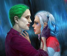 Shared by cyberdog. Find images and videos about joker, harley quinn and suicide squad on We Heart It - the app to get lost in what you love. Harley And Joker Love, Joker Und Harley Quinn, Harley Quinn Drawing, Dc Comics, Pinturas Disney, Marvel Vs, Comic Book Characters, Comic Movies, Gotham City